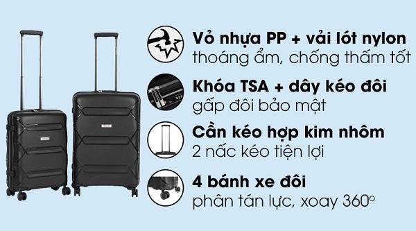 Báo giá vali kéo du lịch - quà tặng khuyến mãi quảng cáo in logo
